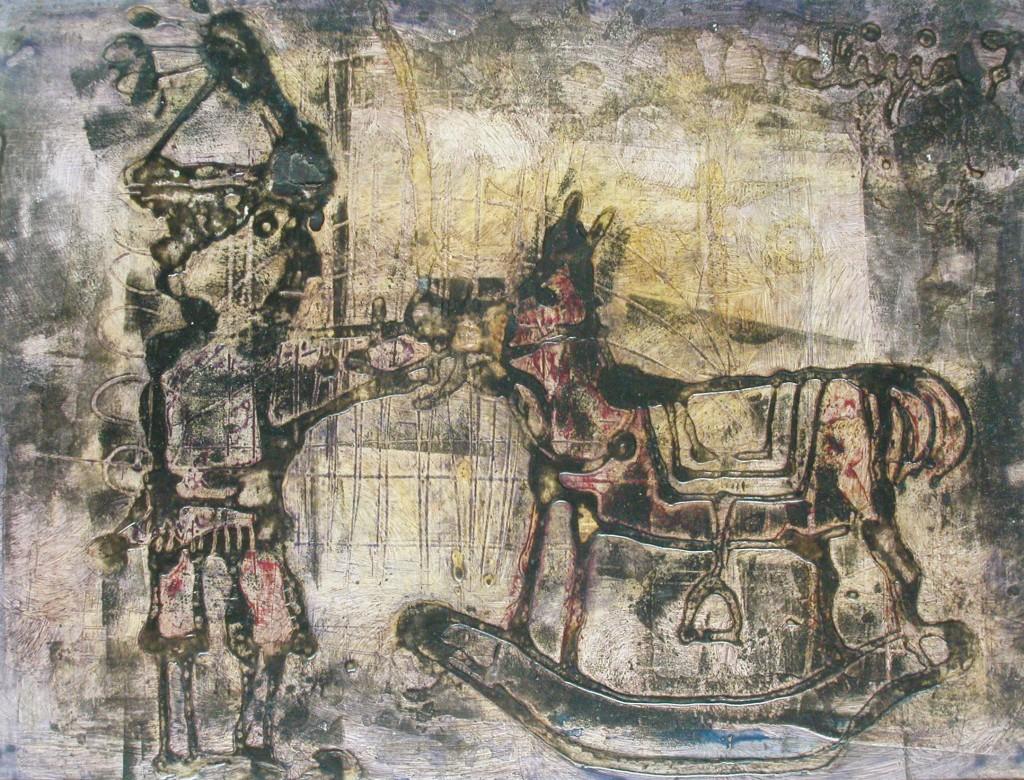 colla e inchiostri su cartoncino 23x30 - 1971