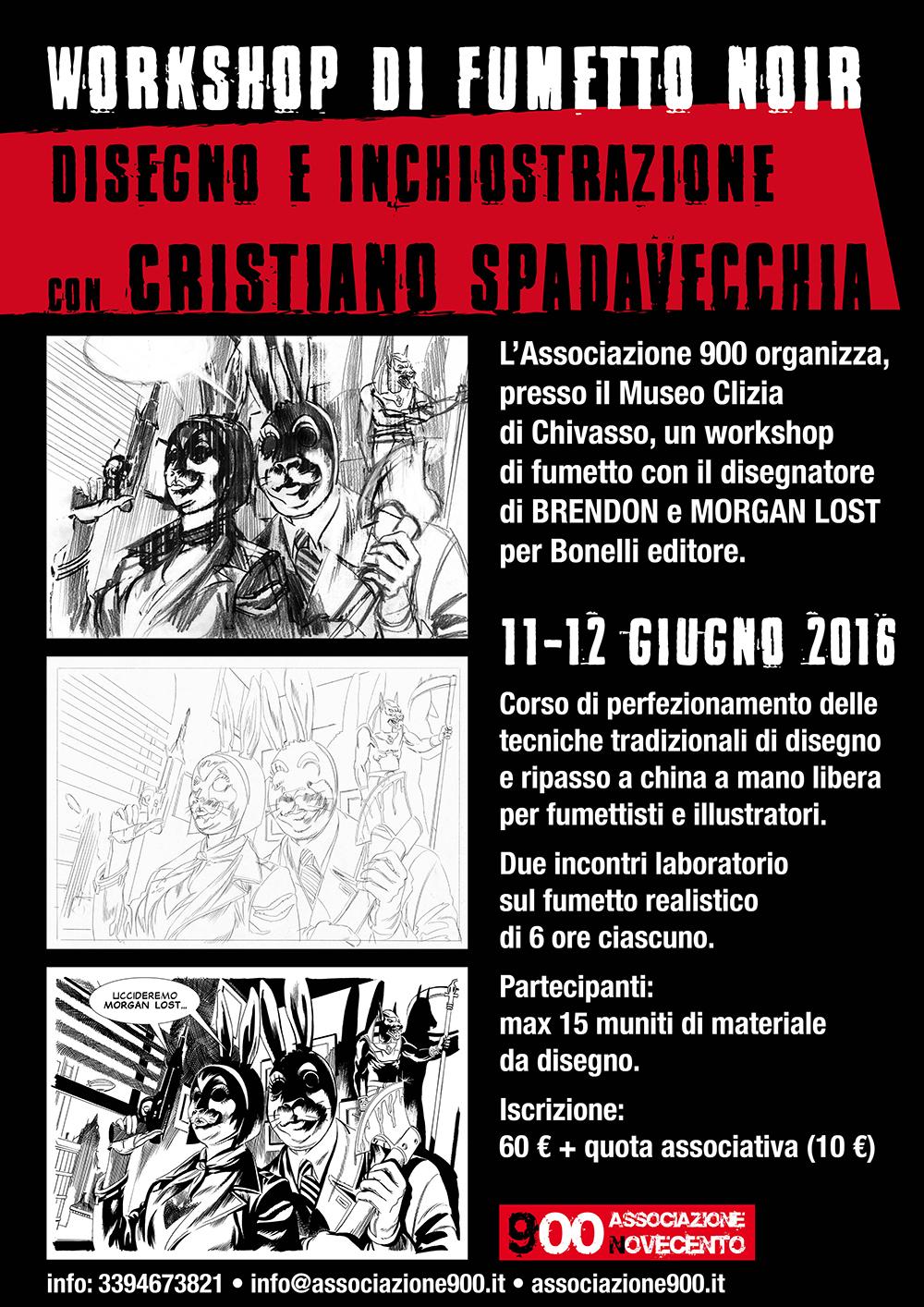 Workshop di Fumetto Noir con Cristiano Spadavecchia