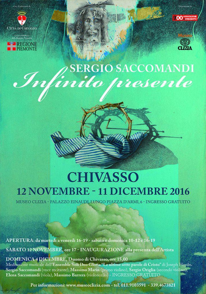 Mostra Sergio Saccomandi; Infinito presente, Chivasso, Museo Clizia