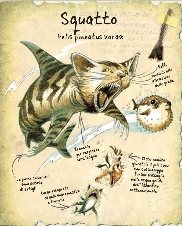 Illustrazione di Giorgio Sommacal: Squatto, Felix pineatus vorax