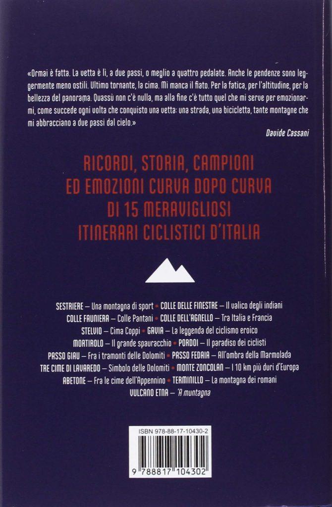 Davide Cassani, Le salite più belle d'Italia; informazioni sulla copertina posteriore del libro