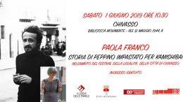 Peppino Impastato per Il Festival della Legalità, raccontato da Paola Franco