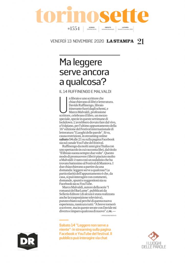 La Stampa - TorinoSette del 13 Novenbre 2020