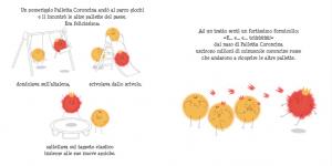Una pagina illustrata del libro Palletta Coroncina